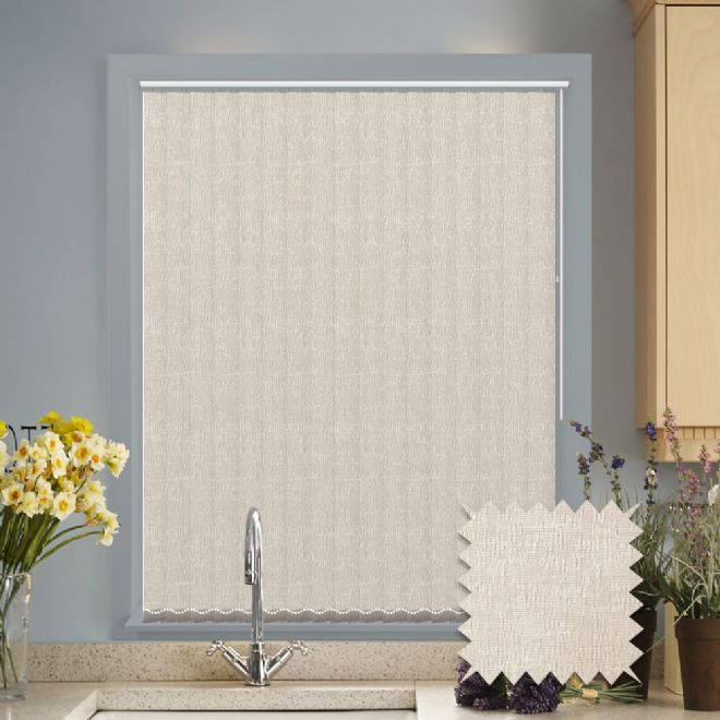 Vertical blinds - Made to Measure vertical blind in Verona Cream - Just Blinds